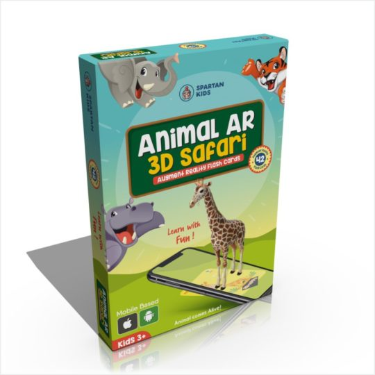 Animal AR 3D Safari Flash cards for kids