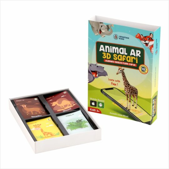 Animal AR 3d safari flash cards