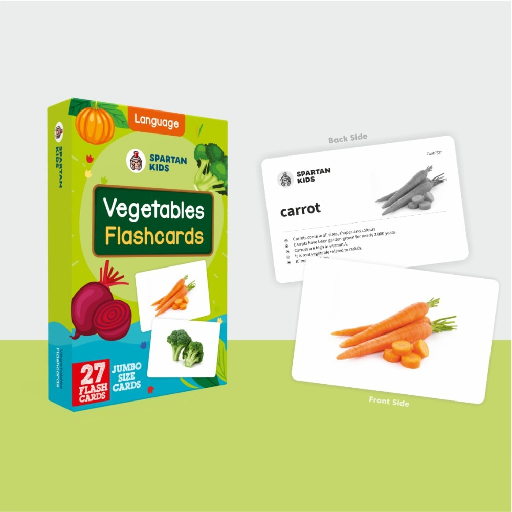 Vegetable jumbo flash cards