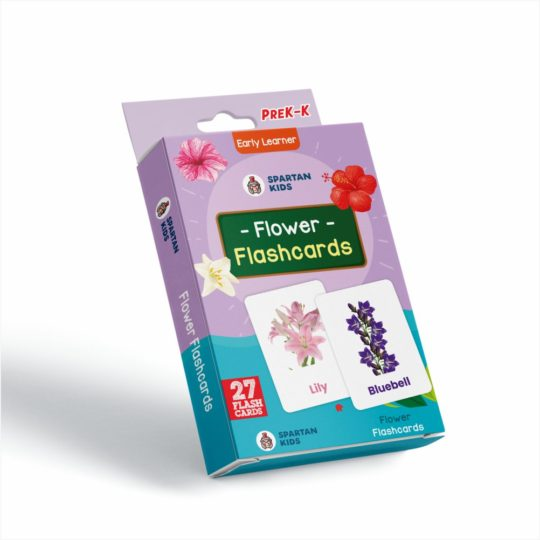 Spartan Kids flower flash cards