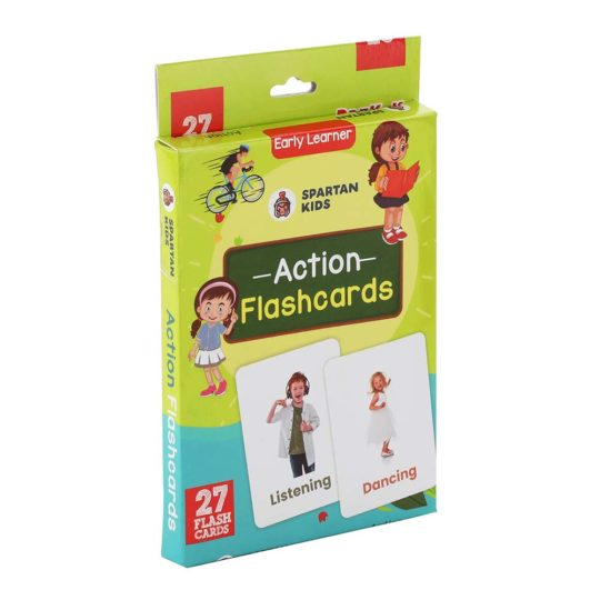 Action flash cards for kids