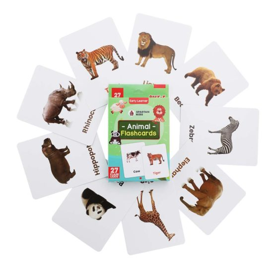 animal flash cards for kids