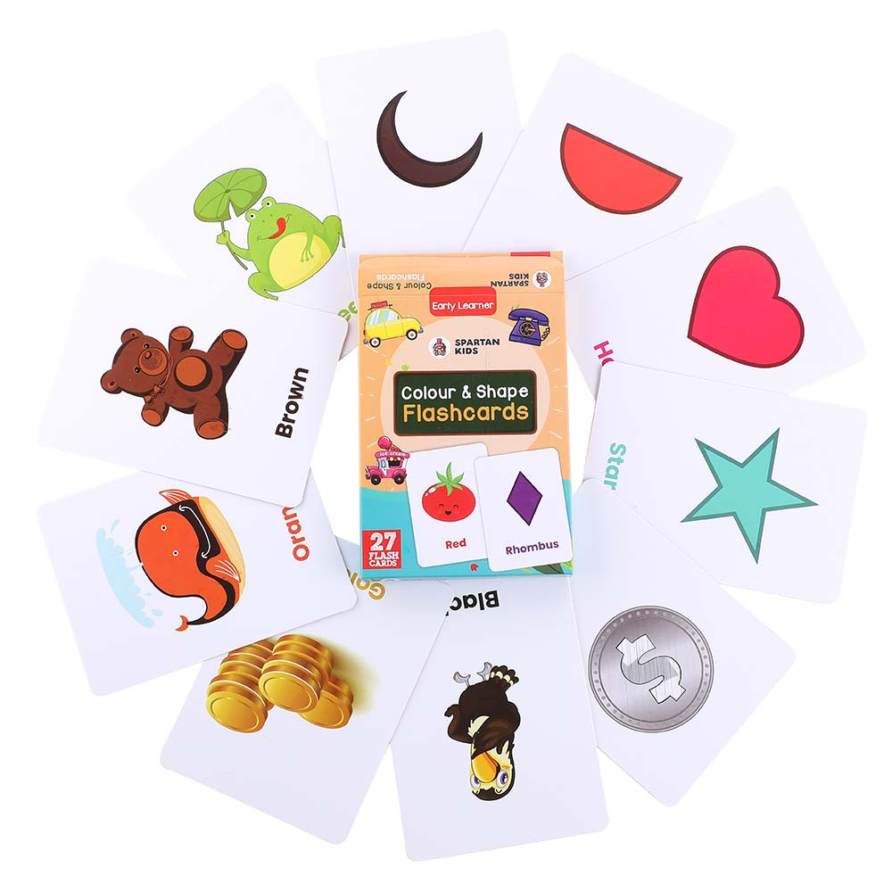 colour & shape flash cards