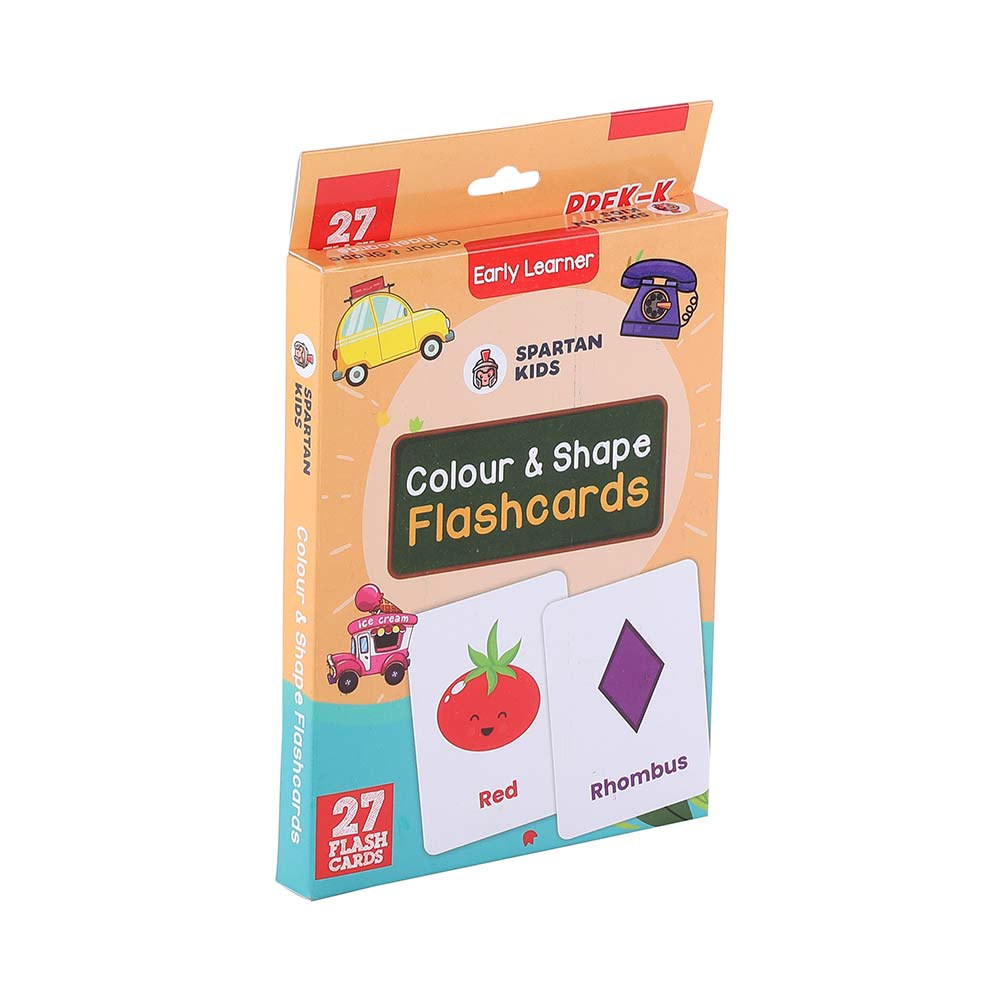 colour & shape flash cards for kids