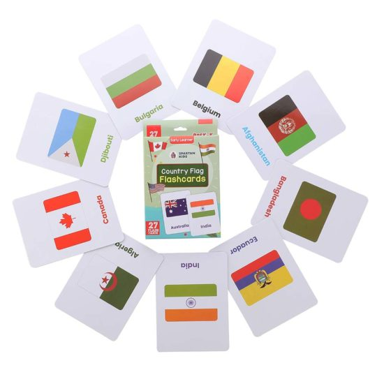 country flag flash cards for kids