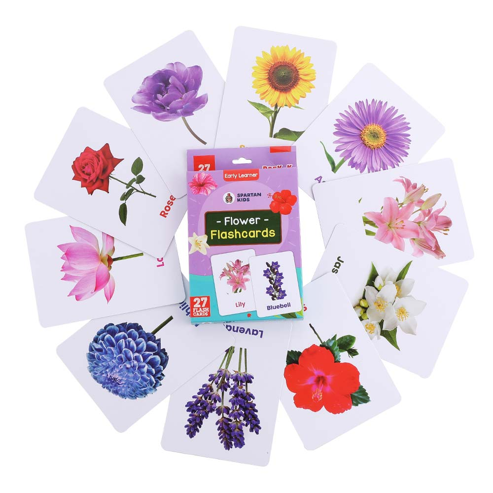 flower flash cards for kids