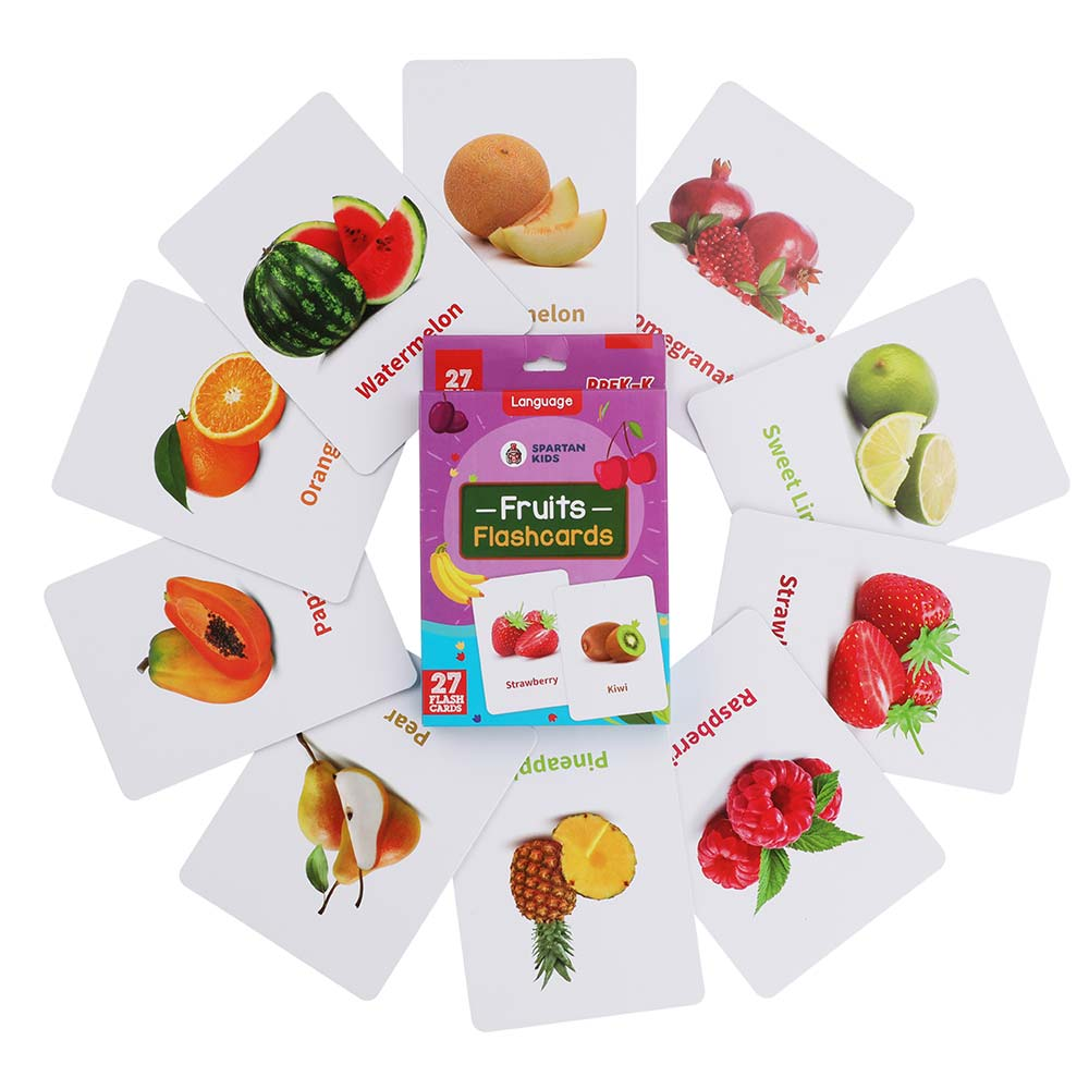 fruit flash cards for kids
