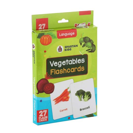 vegetable flash cards for kids
