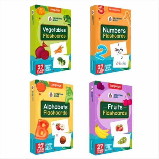 jumbo flash cards for kids pack of 4